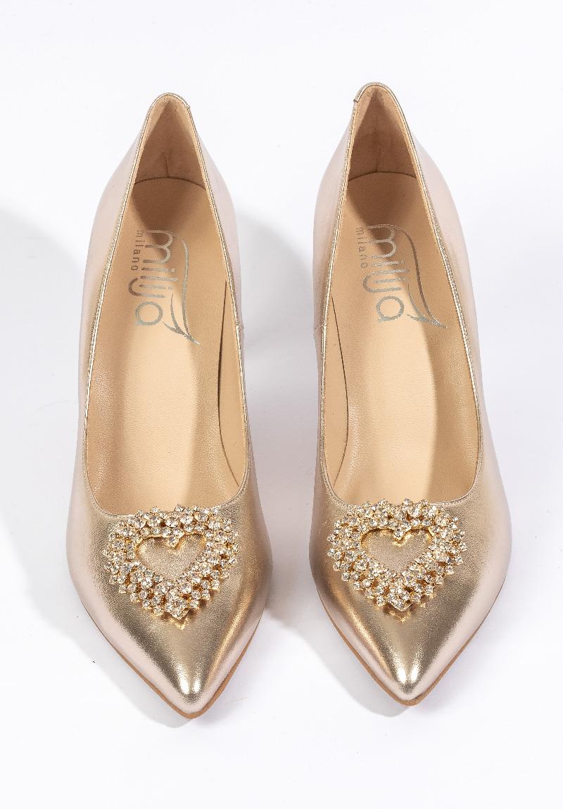 Goldene High-Heel von Milija Milano