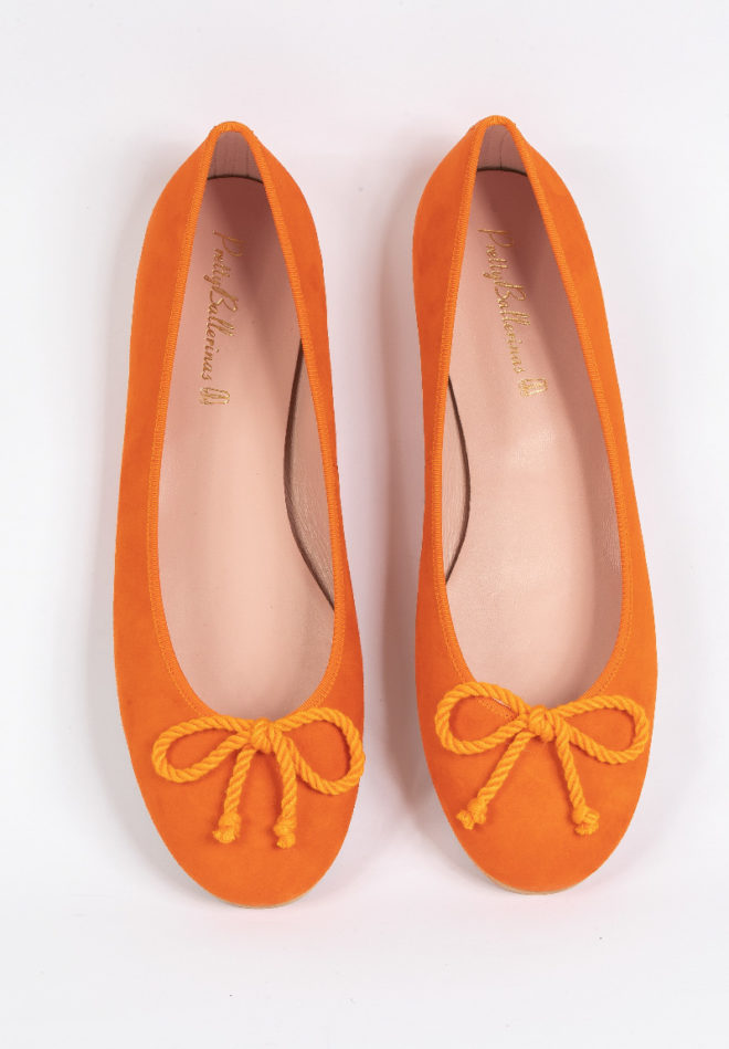 orange Pretty Ballerinas Schuhe